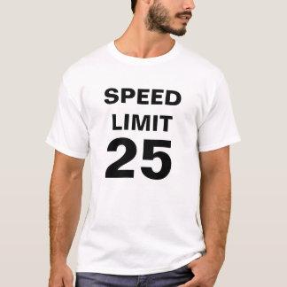 Límite de velocidad 25 playera