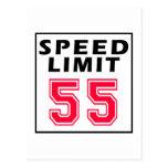 Límite de velocidad 55 diseños del cumpleaños postales
