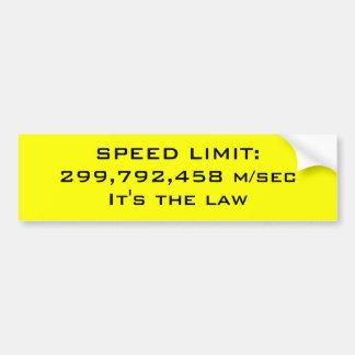 Límite de velocidad etiqueta de parachoque