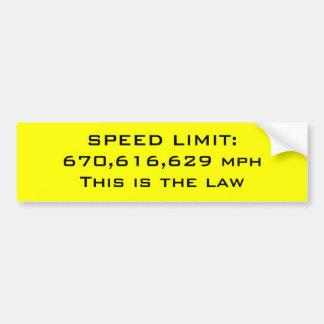 Límite de velocidad pegatina de parachoque