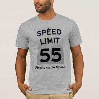 Límite de velocidad camiseta de 55 cumpleaños