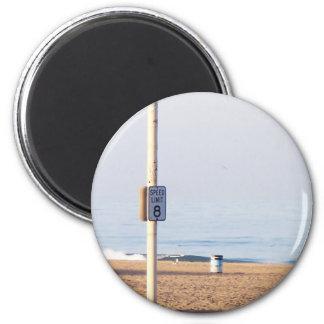 Límite de velocidad de la costa imán redondo 5 cm