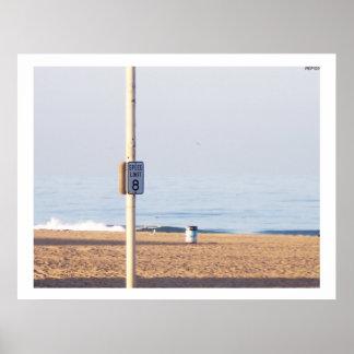 Límite de velocidad de la costa posters