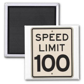 Límite de velocidad de la muestra del límite de imán cuadrado
