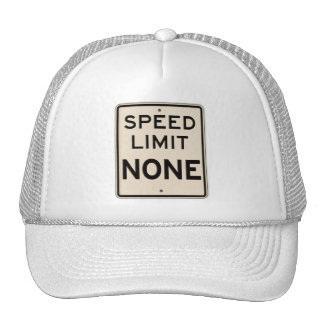 Límite de velocidad del vintage ningunos señal de gorro de camionero