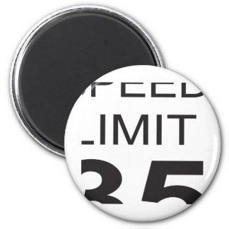 Límite de velocidad imán redondo 5 cm