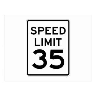 Límite de velocidad muestra de 35 MPH Postal