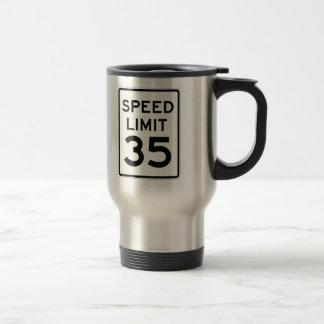 Límite de velocidad muestra de 35 MPH Taza De Viaje De Acero Inoxidable