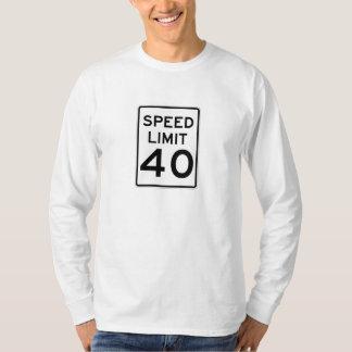 Límite de velocidad muestra de 40 MPH Playera