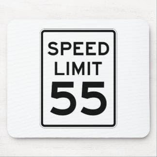 Límite de velocidad muestra de 55 MPH Tapetes De Ratón