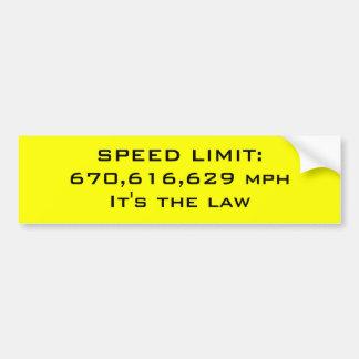 Límite de velocidad pegatina para auto