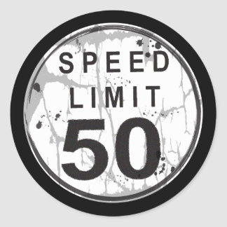 Límite de velocidad pegatina sucio de 50 MPH