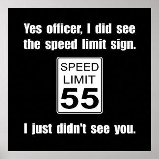 Límite de velocidad póster