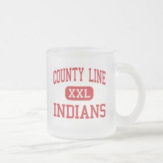 Límite del condado - indios - alto - rama Arkansas Taza De Café Esmerilada