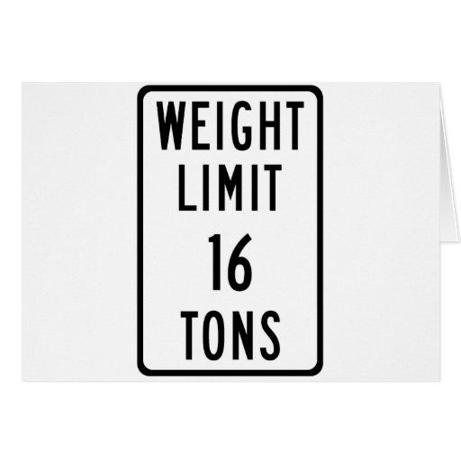 Límite del peso 16 toneladas de muestra tarjetón