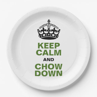 Limite la calma y las placas de papel del perro plato de papel de 9 pulgadas