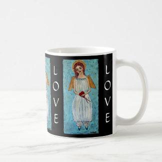 Límite por ángel del amor taza clásica
