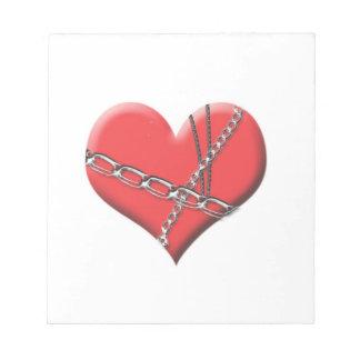Límite por la libreta del amor bloc de notas