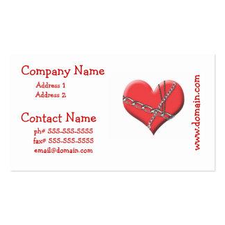 Límite por las tarjetas de visita del amor