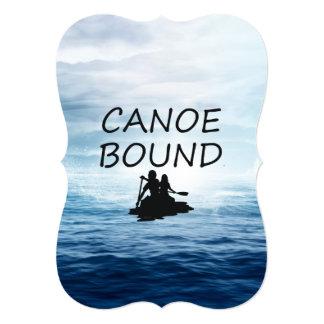 """Límite SUPERIOR de la canoa Invitación 5"""" X 7"""""""