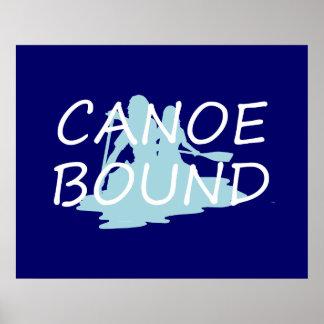 Límite SUPERIOR de la canoa Posters