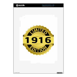 Limited 1916 Edition Decals For iPad 2