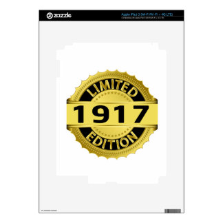 Limited 1917 Edition Decal For iPad 3