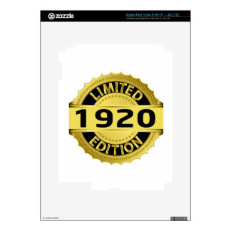 Limited 1920 Edition iPad 3 Skin