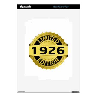 Limited 1926 Edition iPad 2 Decal