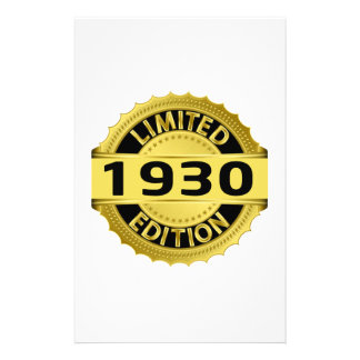 Limited 1930 Edition Stationery