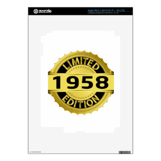 Limited 1958 Edition Decal For iPad 3