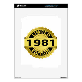 Limited 1981 Edition Decals For The iPad 2