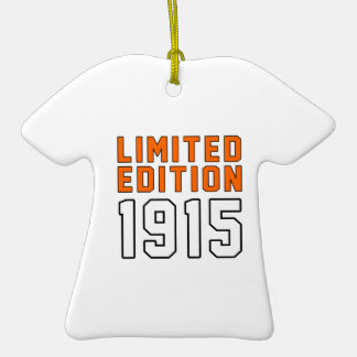 Limited Edition 100 Birthday Designs Double-Sided T-Shirt Ceramic Christmas Ornament