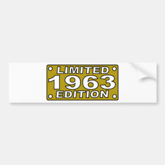 Limited-Edition-1963.png Car Bumper Sticker