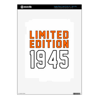 Limited Edition 70 Birthday Designs Skin For iPad 3