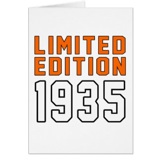 Limited Edition 80 Birthday Designs Greeting Cards