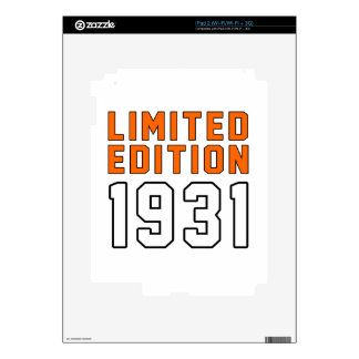 Limited Edition 84  Birthday Designs Skin For The iPad 2