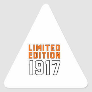 Limited Edition 98 Birthday Designs Triangle Sticker