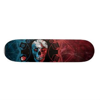 LIMITED EDITION:  Blue & Red Skull Skate Board Decks