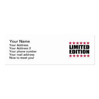 Limited Edition Double-Sided Mini Business Cards (Pack Of 20)