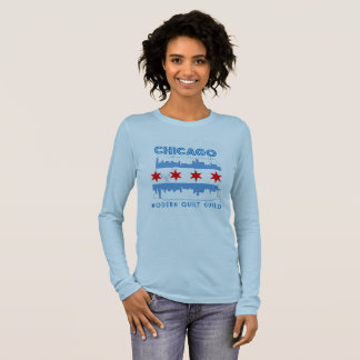 Limited Edition Chicago Modern Quilt Guild Design Long Sleeve T-Shirt