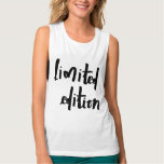 limited edition flowy muscle tank top