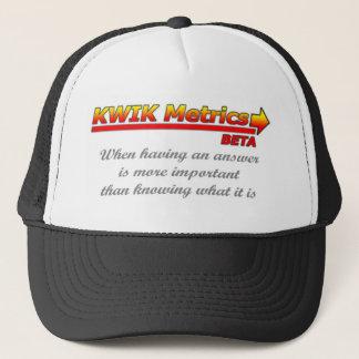 Limited Edition Kwik Metrics Beta merchandise Trucker Hat