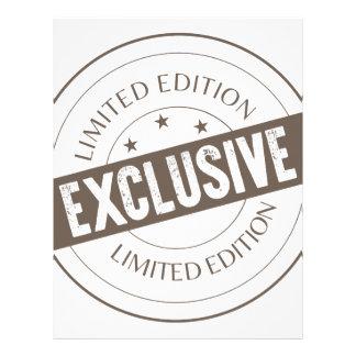 Limited Edition Letterhead