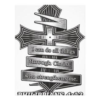 Limited Edition Philippians 4:13 Christian Bible Letterhead