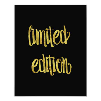 Limited Edition Quote Faux Gold Foil Quotes Humor Photo Print