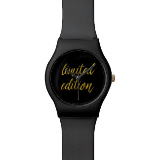 Limited Edition Quote Faux Gold Foil Quotes Humor Wristwatches