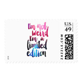 limited edition quote postage stamp