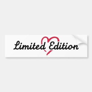 Limited Edition red heart Bumper Stickers