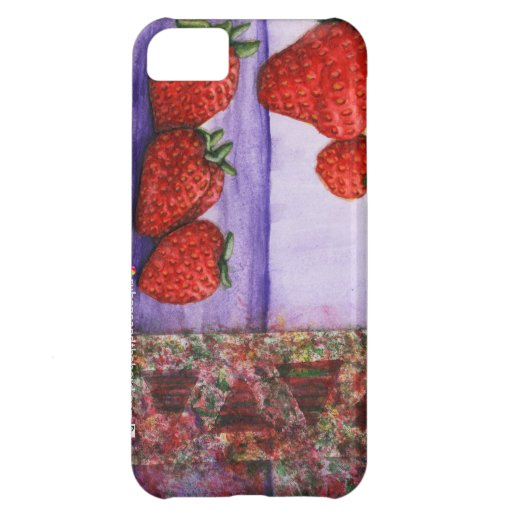 limited edition strawberry stamped iPhone 5 case
